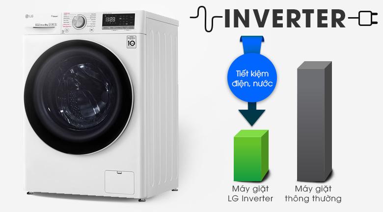 Máy giặt sấy LG Inverter 8.5 kg FV1408G4W | Tiết kiệm chi phí