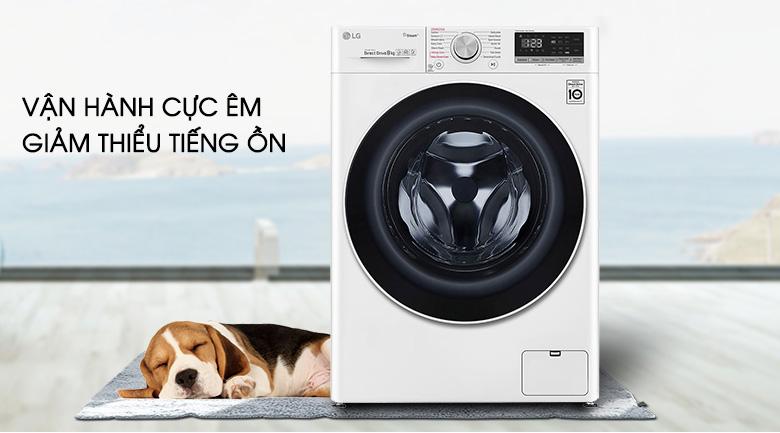 Máy giặt sấy LG Inverter 8.5 kg FV1408G4W | Giặt yên tĩnh
