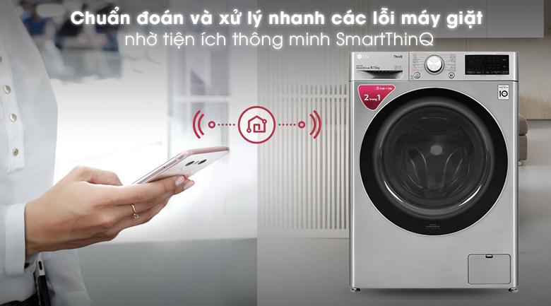 Máy giặt sấy LG Inverter 9 kg FV1409G4V - Tiện ích SmartThinQ