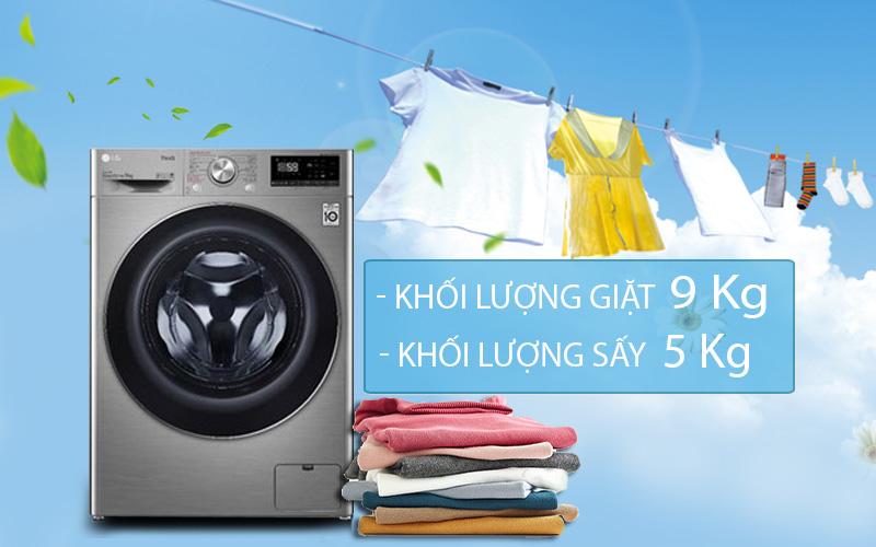 Máy giặt sấy LG Inverter 9 kg FV1409G4V-Tiện lợi với máy giặt sấy tích hợp 2 trong 1