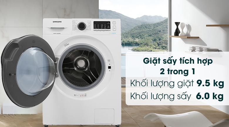 Máy giặt sấy Samsung Inverter 9.5kg WD95J5410AW/SV - Khối lượng giặt sấy