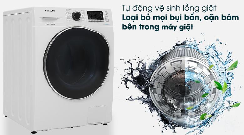 Máy giặt sấy Samsung Inverter 9.5kg WD95J5410AW/SV - Tự làm sạch
