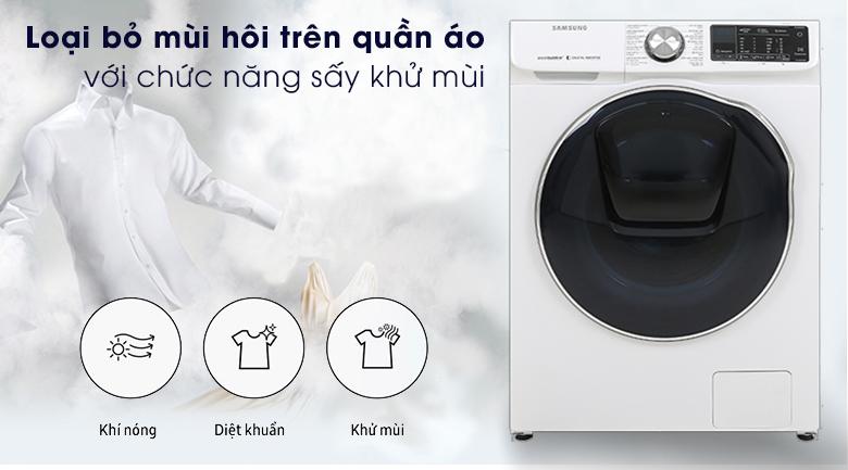Máy giặt sấy Samsung AddWash Inverter 10.5 kg WD10N64FR2W/SV - Airwash