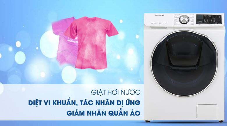 Máy giặt sấy Samsung AddWash Inverter 10.5 kg WD10N64FR2W/SV - Giặt hơi nước