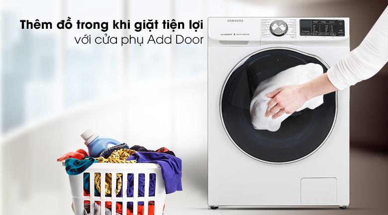 Máy giặt sấy Samsung AddWash Inverter 10.5 kg WD10N64FR2W/SV - Cửa phụ Add door