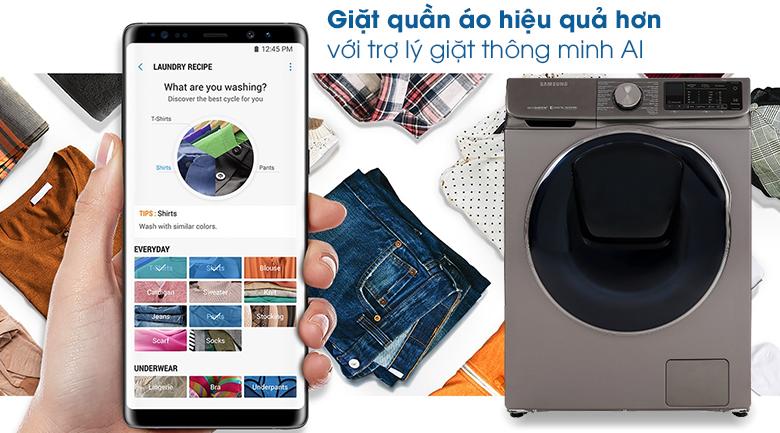 Máy giặt sấy Samsung AddWash Inverter 10.5 kg WD10N64FR2X/SV - Tiện ích qua điện thoại