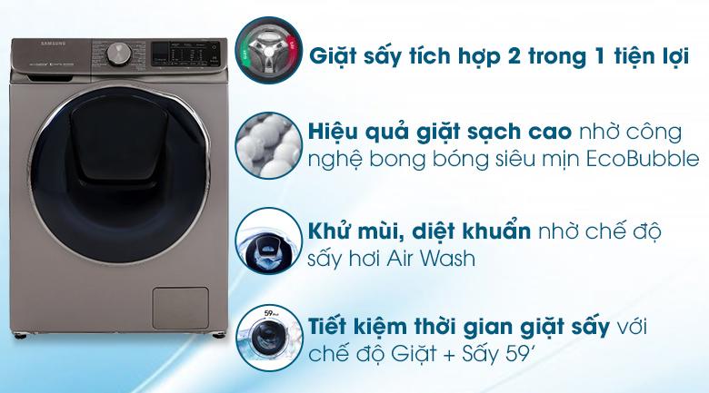 Máy giặt sấy Samsung AddWash Inverter 10.5 kg WD10N64FR2X/SV