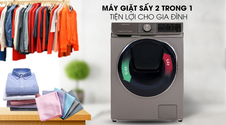 Máy giặt sấy Samsung AddWash Inverter 10.5 kg WD10N64FR2X/SV - Giặt sấy tích hợp