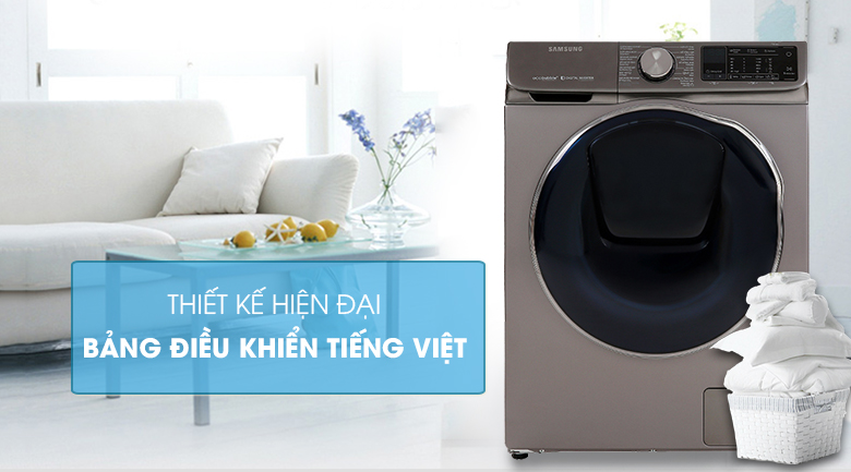 Máy giặt sấy Samsung AddWash Inverter 10.5 kg WD10N64FR2X/SV - Thiết kế