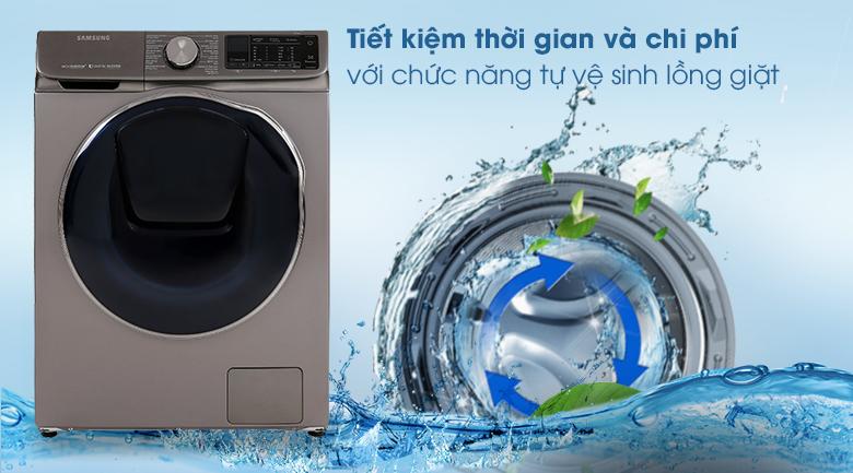 Máy giặt sấy Samsung AddWash Inverter 10.5 kg WD10N64FR2X/SV - Tự vệ sinh lồng giặt