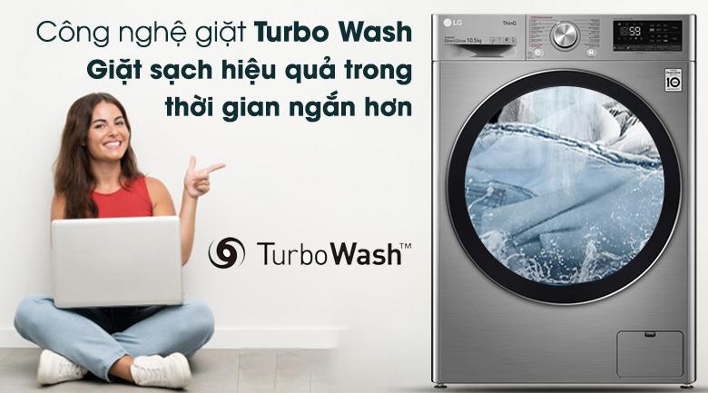 Máy giặt LG Inverter 10.5 kg FV1450S3V - Turbo Wash