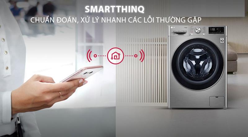 Máy giặt LG Inverter 10.5 kg FV1450S3V-Tiện lợi khi chuẩn đoán, xử lý nhanh các lỗi thường gặp với ứng dụng thông minh SmartThinkQ