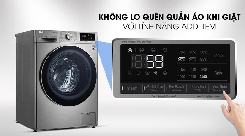 Máy giặt LG Inverter 10.5 kg FV1450S3V - thêm đồ ngay cả khi máy đã khởi động