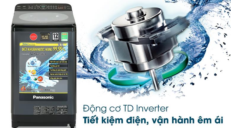 Máy giặt Panasonic Inverter 9.5 Kg NA-FD95V1BRV - Động cơ TD Inverter tiết kiệm điện