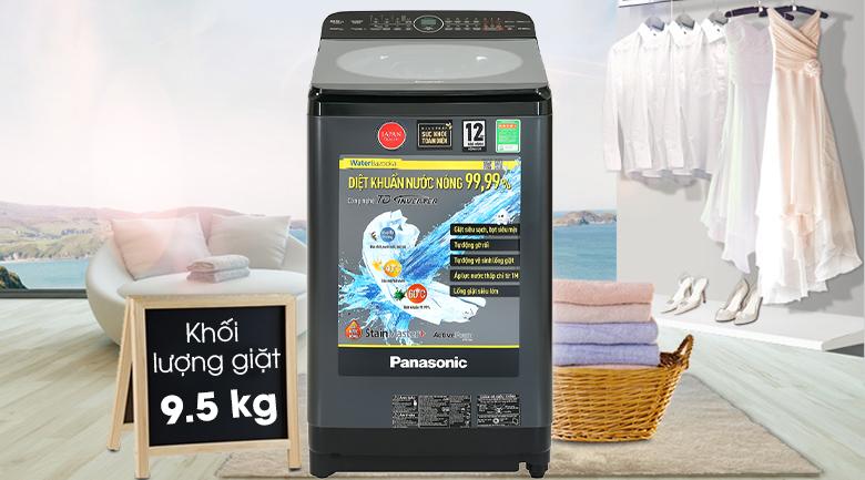 Máy giặt Panasonic Inverter 9.5 Kg NA-FD95V1BRV-Khối lượng giặt 9.5kg, phù hợp gia đình trên 6 người