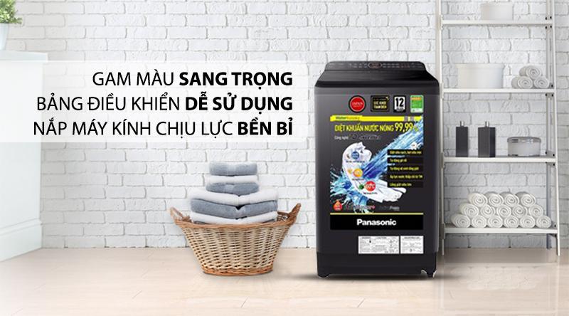 Máy giặt Panasonic Inverter 9.5 Kg NA-FD95V1BRV-Gam màu sang trọng, bảng điều khiển dễ sử dụng, nắp máy kính chịu lực bền bỉ