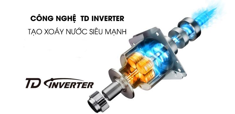 Máy giặt Panasonic Inverter 9.5 Kg NA-FD95V1BRV-Sử dụng điện hiệu quả, vận hành êm với công nghệ TD Inverter