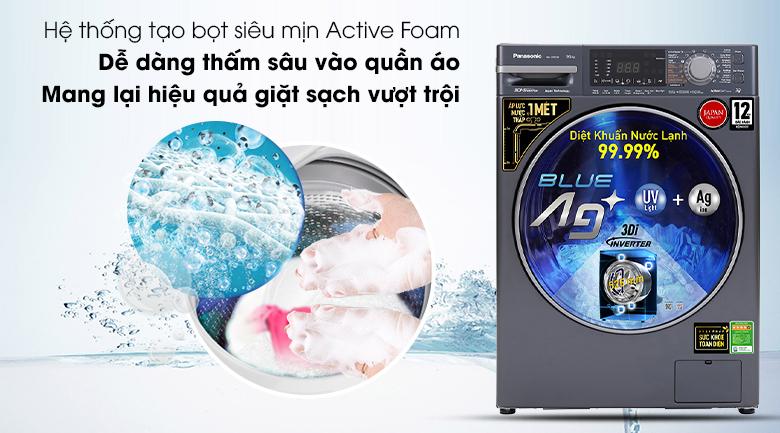 Máy giặt Panasonic Inverter 9.5 Kg NA-V95FX2BVT - Hệ thống tạo bọt siêu mịn