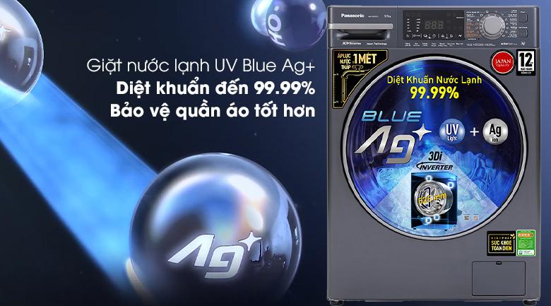 Máy giặt Panasonic Inverter 9.5 Kg NA-V95FX2BVT - Giặt nước lạnh UV Blue Ag+