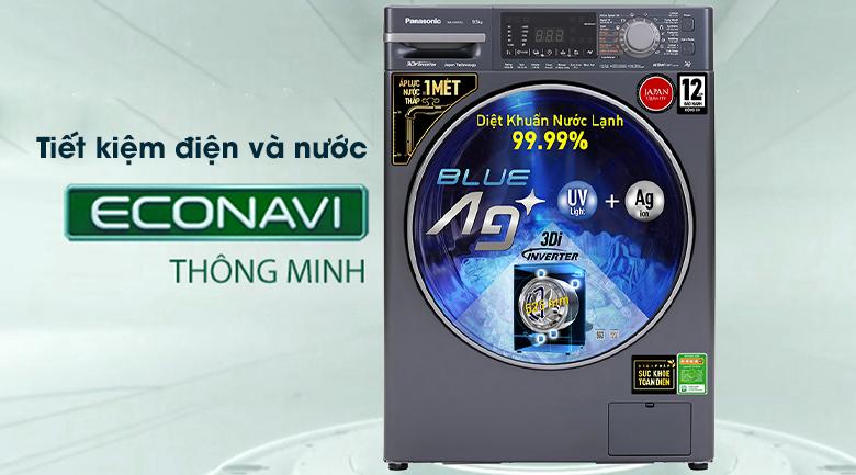 Máy giặt Panasonic Inverter 9.5 Kg NA-V95FX2BVT - Tiết kiệm điện và nước