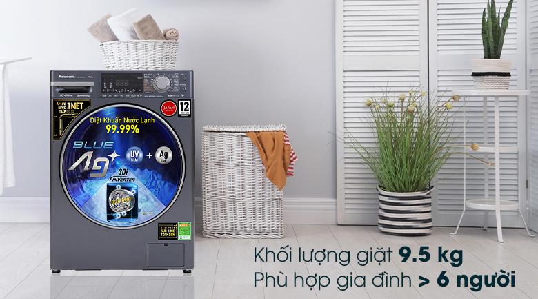 Máy giặt Panasonic Inverter 9.5 Kg NA-V95FX2BVT - Khối lượng giặt 9kg