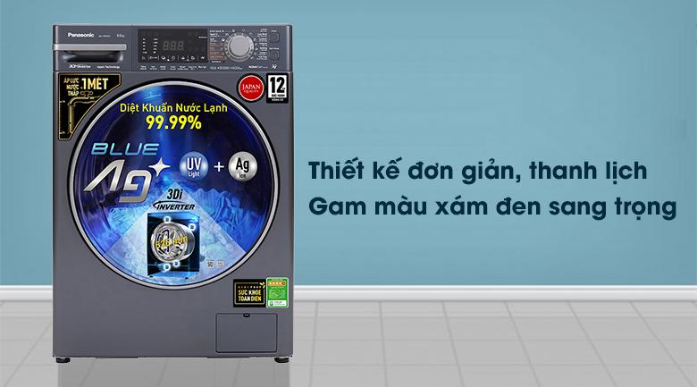 Máy giặt Panasonic Inverter 9.5 Kg NA-V95FX2BVT - Thiết kế đơn giản