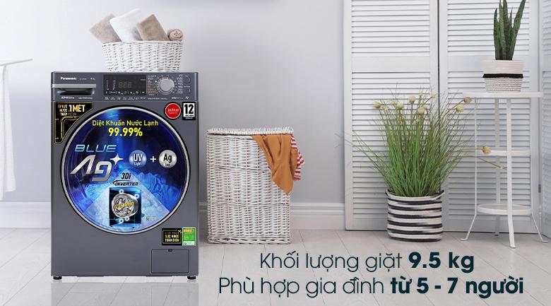 Máy giặt Panasonic Inverter 9.5 Kg NA-V95FX2BVT - Khối lượng giặt 9.5 kg