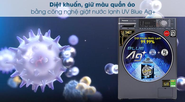 Máy giặt Panasonic Inverter 10.5 Kg NA-V105FX2BV - Công nghệ giặt nước lạnh UV Blue Ag+