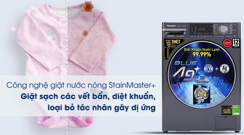 Máy giặt Panasonic Inverter 10.5 Kg NA-V105FX2BV - Công nghệ giặt nước nóng