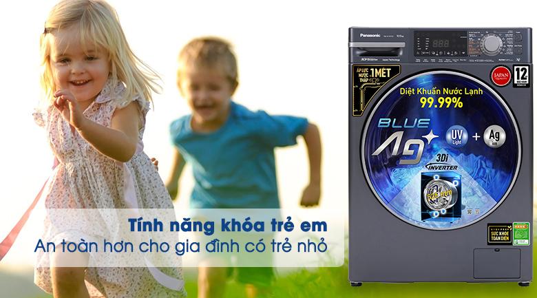 Máy giặt Panasonic Inverter 10.5 Kg NA-V105FX2BV - Tính năng khóa trẻ em