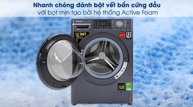 Máy giặt Panasonic Inverter 10.5 Kg NA-V105FX2BV - Hệ thống Active Foam