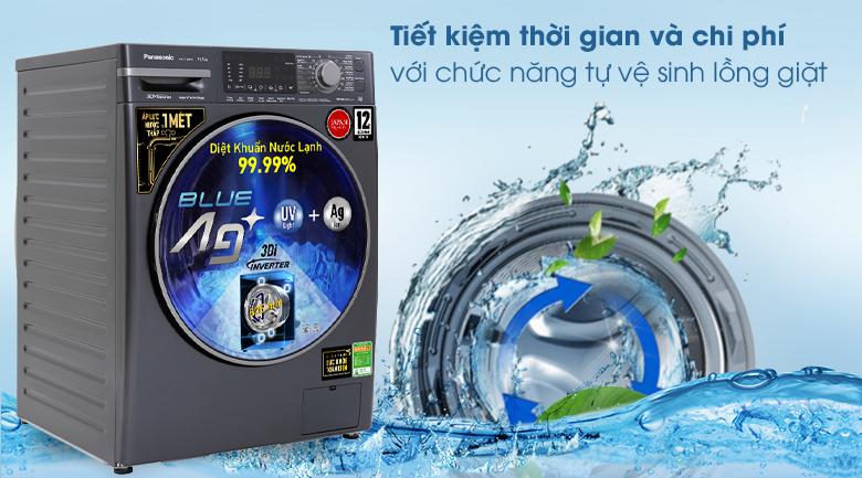 Máy giặt Panasonic Inverter 10.5 Kg NA-V105FX2BV - Tự vệ sinh lồng giặt