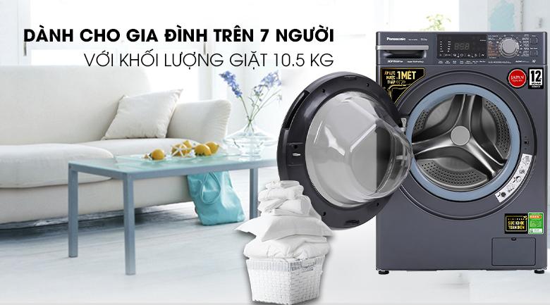 Máy giặt Panasonic Inverter 10.5 Kg NA-V105FX2BV - Khối lượng giặt 10.5kg