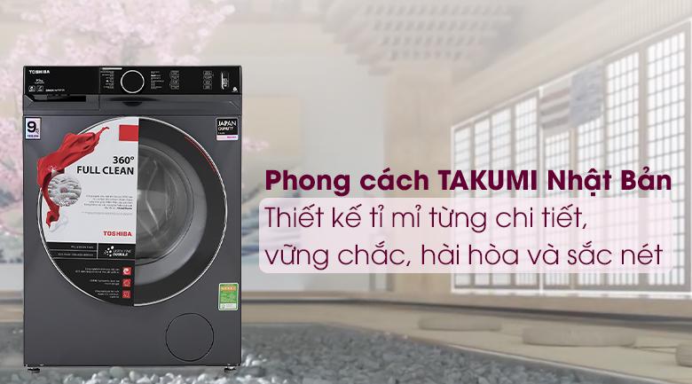 Máy giặt Toshiba Inverter 9.5 Kg TW-BK105G4V(MG) - Phong các TAKUMI