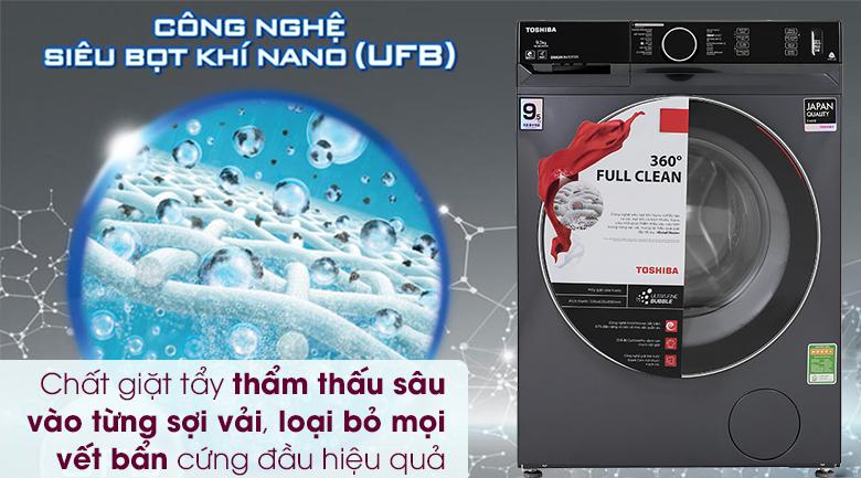 Máy giặt Toshiba Inverter 9.5 Kg TW-BK105G4V(MG) - Siêu bọt khí nano