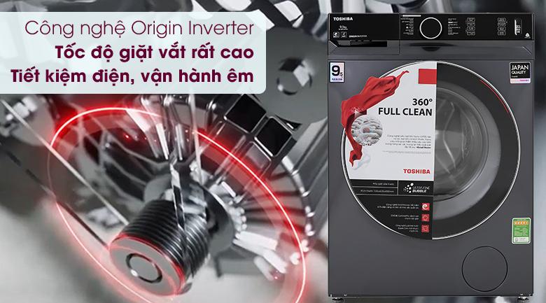 Máy giặt Toshiba Inverter 9.5 Kg TW-BK105G4V(MG) - Công nghệ Origin Inverter