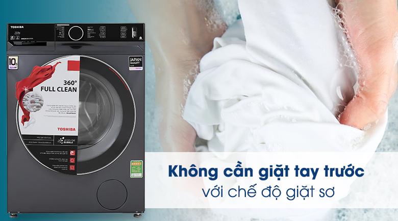 Máy giặt Toshiba Inverter 10.5 Kg TW-BK115G4V (MG) - Chế độ giặt sơ