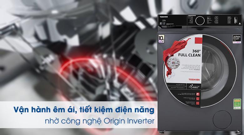 Máy giặt Toshiba Inverter 10.5 Kg TW-BK115G4V (MG) - Công nghệ Origin Inverter