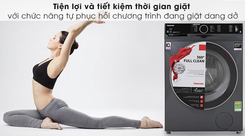 Máy giặt Toshiba Inverter 10.5 Kg TW-BK115G4V (MG) - Tiết kiệm thời gian