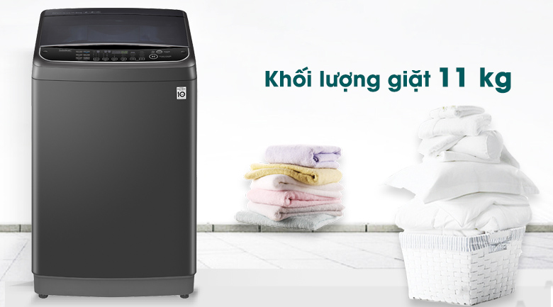 Máy giặt LG Inverter 11 kg TH2111SSAB - Khối lượng giặt