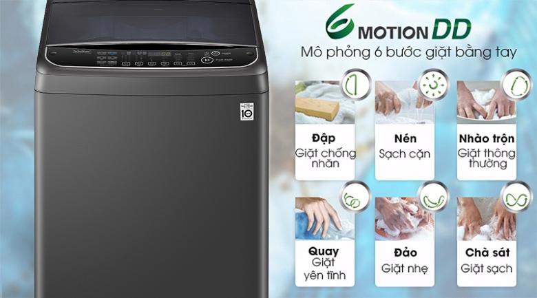 Máy giặt LG Inverter 11 kg TH2111SSAB - Giặt 6 chuyển động