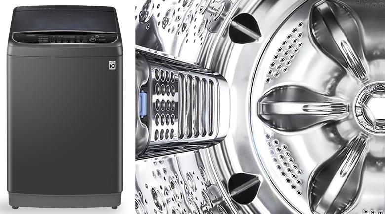 Máy giặt LG Inverter 11 kg TH2111SSAB - Lồng giặt và mâm giặt làm bằng thép không gỉ