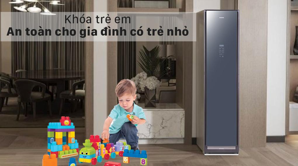 Tủ chăm sóc áo quần thông minh Samsung DF60R8600CG/SV - Khóa trẻ em