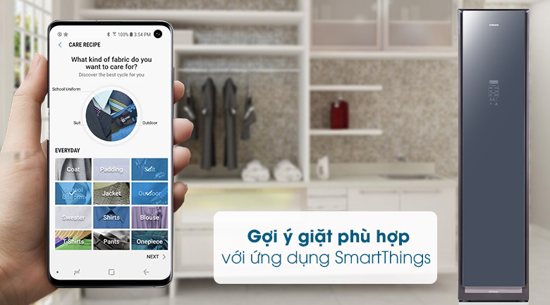 Tủ chăm sóc quần áo AirDresser Samsung - SmartThings