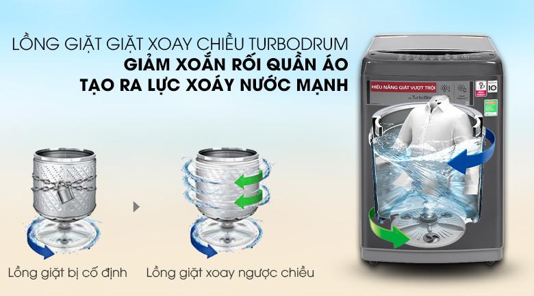 Máy giặt LG Inverter 9kg T2109VSAB trang bị lồng giặt Turbo Drum