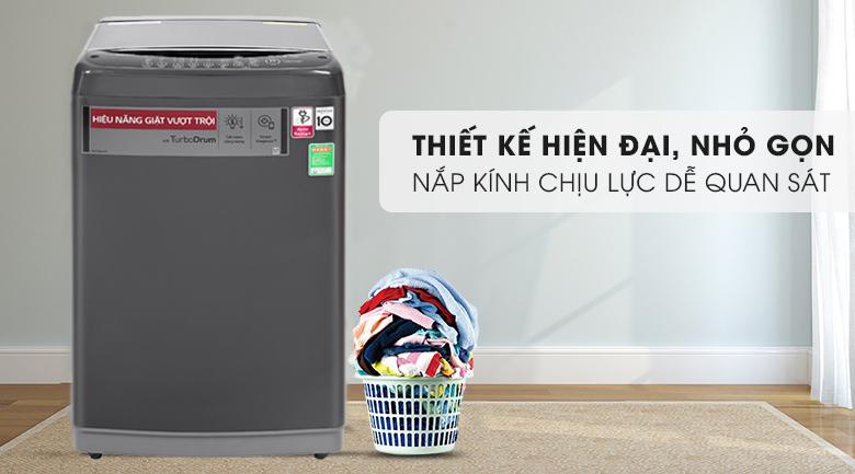 Máy giặt LG Inverter 9kg T2109VSAB-Kiểu dáng hiện đại, vỏ máy bằng kim loại sơn tĩnh điện bền bỉ, chống trầy xước