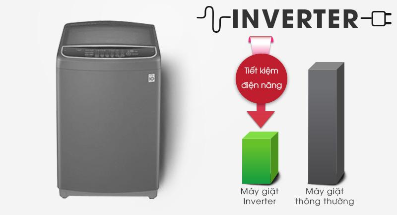 Máy giặt LG Inverter 9kg T2109VSAB-Tiết kiệm điện hiệu quả cùng công nghệ Inverter
