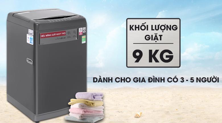 Máy giặt LG Inverter 9kg T2109VSAB-Khối lượng giặt 9kg, phù hợp cho gia đình 3 - 5 người
