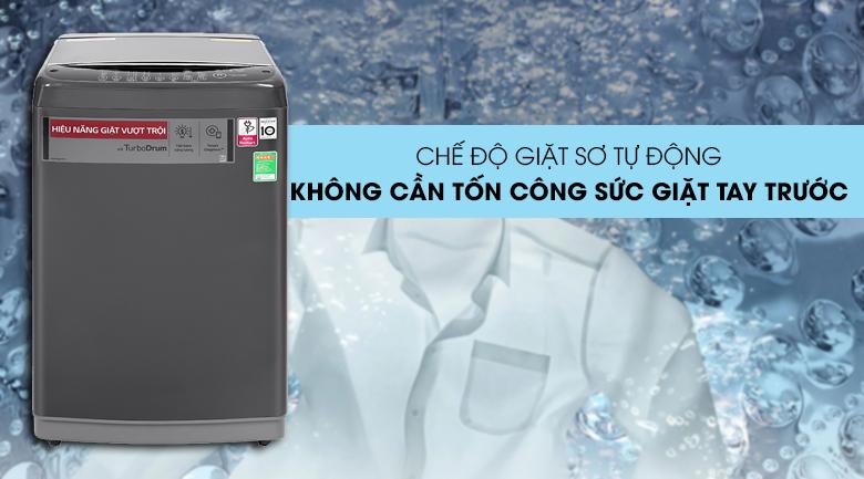 Máy giặt LG Inverter 9kg T2109VSAB-Tiết kiệm thời gian, tiện lợi với chế độ giặt sơ tự động