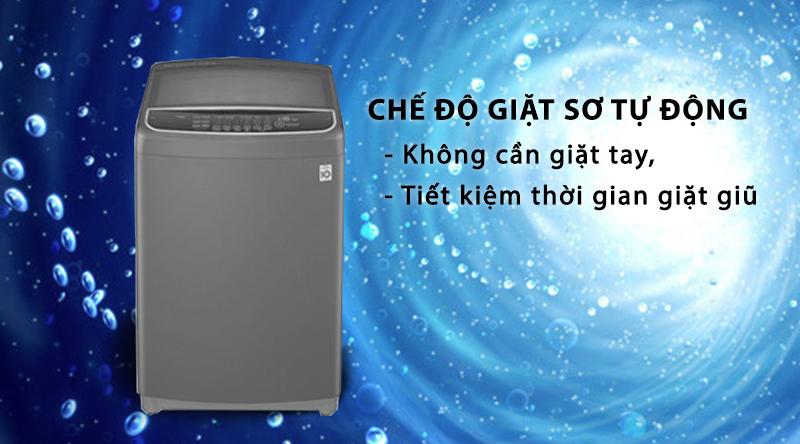Máy giặt LG Inverter 10.5 kg T2350VSAB-Không cần giặt tay, tiết kiệm thời gian giặt giũ nhờ chế độ giặt sơ tự động